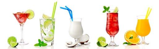 Collection de cocktail sur le blanc photographie stock libre de droits