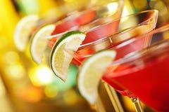 Collection de cocktails - cosmopolite Images stock