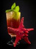 Collection de cocktails - Mai Tai (noir avec l'étoile) Photographie stock