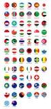 Collection de conception de bouton de drapeau illustration de vecteur