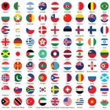 Collection de conception d'icônes de bouton de drapeau Photographie stock