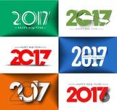 Collection de conception des textes de la bonne année 2017 Image stock