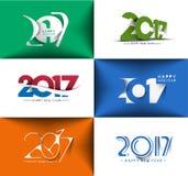 Collection de conception des textes de la bonne année 2017 Image libre de droits