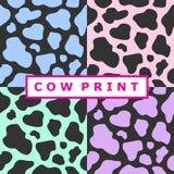 Collection de copies de vache Images libres de droits