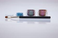 Collection de cosmétiques pour l'artiste de maquillage images libres de droits