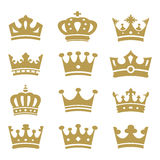 Collection de couronne - silhouette de vecteur illustration de vecteur