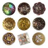 Collection de couture de boutons photographie stock libre de droits