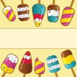 Collection de crème glacée, illustration de vecteur illustration stock