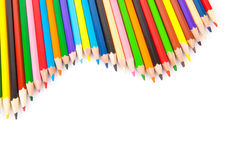 Collection de crayons colorés Images libres de droits