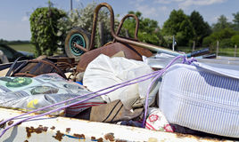 Collection de déchets en vrac image stock