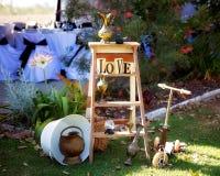 Collection de décor romantique appropriée à un affichage de mariage Photographie stock libre de droits