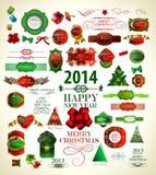 Collection de décoration de Noël Photo stock
