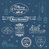 Collection de décoration de Noël Photos libres de droits