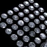 Collection de diamant.  Pierre gemme Image libre de droits