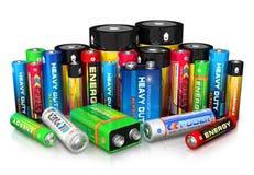 Collection de différentes batteries Images stock