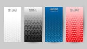 Collection de différents modèles de couleur à l'arrière-plan illustration stock