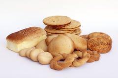 Collection de différents types de pain fait maison du Pérou Images libres de droits
