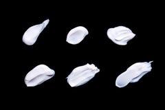 Collection de diverses courses d'une crème blanche de beauté Photo libre de droits