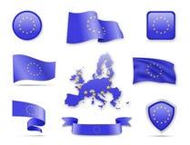 Collection de drapeau d'Union européenne Image libre de droits