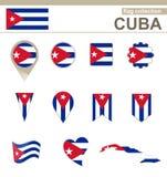 Collection de drapeau du Cuba illustration stock