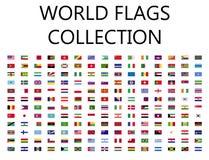 Collection de drapeau du monde Photo libre de droits