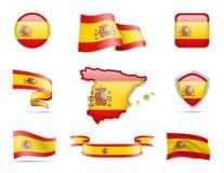 Collection de drapeau - ensemble de l'Espagne Photographie stock libre de droits