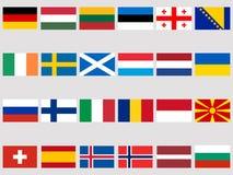Collection de drapeaux des pays européens sur un fond blanc Marquez le graphisme set Vecteur Photo stock