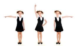 Collection de fille heureuse de sourire d'école de photos Photos libres de droits
