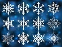 Collection de flocon de neige Photos stock