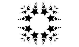 Collection de fond de style d'icône d'étoile Photographie stock