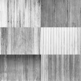 Collection de fond en bois, couleur noire et blanche Photos libres de droits