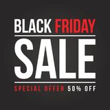 Collection de fond de vente de Black Friday Image stock