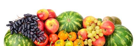 Collection de fruits et légumes Photographie stock libre de droits