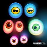 Collection de globe oculaire de monstre Image libre de droits