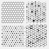 Collection de grille de structure de molécule Vecteur créatif de composés chimiques génétiques de globe Photos libres de droits