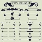 Collection de Halloween d'éléments de conception Photo stock