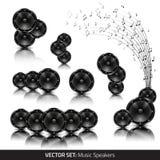 Collection de haut-parleurs de musique Photographie stock libre de droits