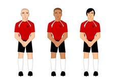 Collection de joueurs de football internationaux Illustration Libre de Droits