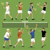 Collection de joueurs de tennis illustration stock
