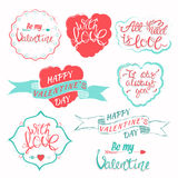 Collection de jour de valentines illustration libre de droits