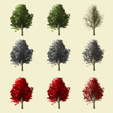 collection de l'arbre 3d Photos libres de droits