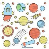 Collection de l'espace avec des planètes illustration libre de droits