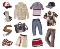 Collection de l'habillement des hommes Image libre de droits