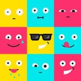 Collection de l'illustration de vecteur des icônes modernes d'emoji illustration de vecteur