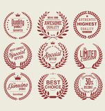 Collection de la meilleure qualité de guirlande de laurier de qualité illustration libre de droits