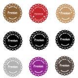 Collection de la meilleure qualité de label de qualité dans le style de vintage Image libre de droits