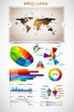 Collection de la meilleure qualité de maître d'infographics : Images stock