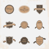 Collection de labels Photo libre de droits
