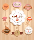 Collection de labels de nourriture de vintage Image stock