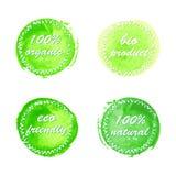 Collection de labels de produit d'écologie Images stock